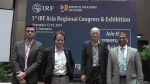 Magid Elabyad, VP International Programs and Member Services, IRF; Brendan Halleman, Director, International Programs and Advocacy, IRF; Paul Minett, Chair, Ridesharing Institute; and Arif K. Rafiq, Director, Membership Development and Marketing, IRF.